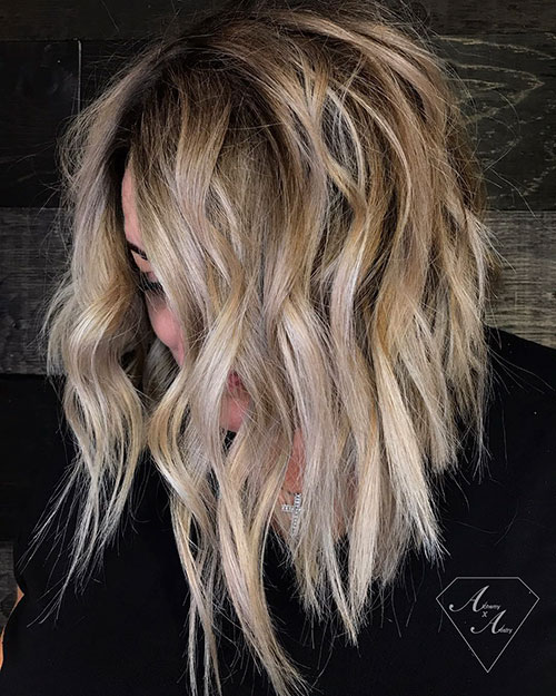 Medium Length Messy Hairstyles