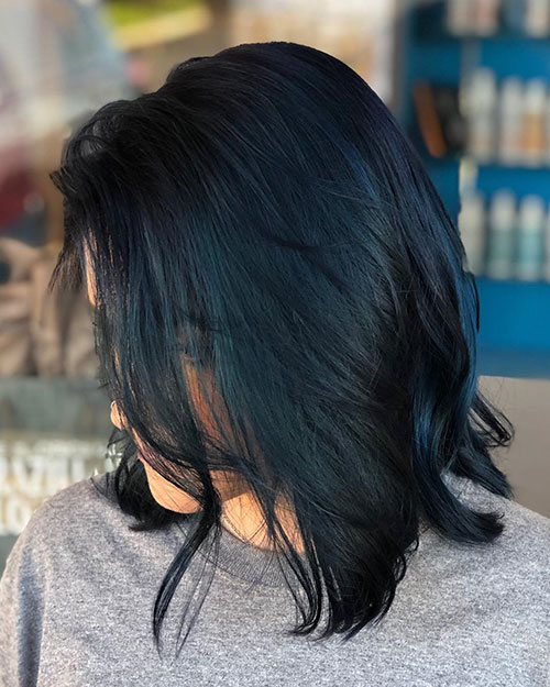 Blue Hairstyles For Medium Hair In 2020