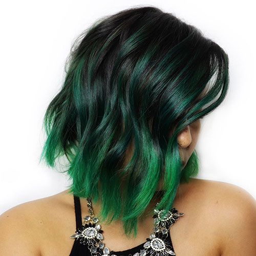 Medium Ombre Hairstyle