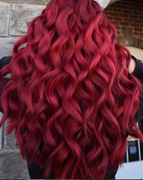 Medium Red Hairstyle