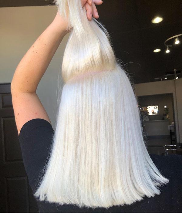 Medium And Platinum Hair