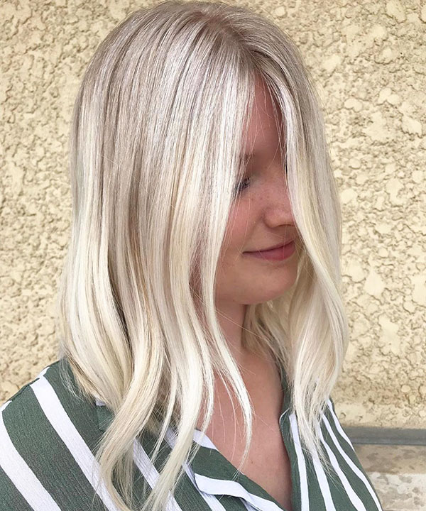 Pictures Of Platinum Medium Hair