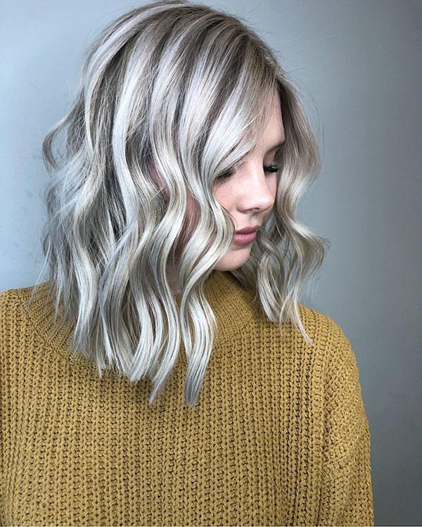 Platinum Medium Hair Images