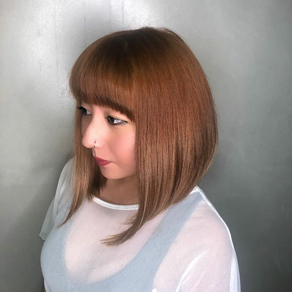 Medium Styles With Bangs