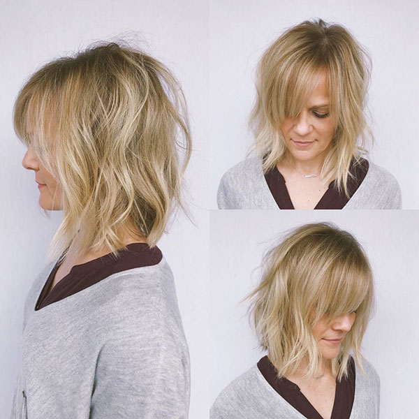 Hairstyles For Medium Hair With Bangs
