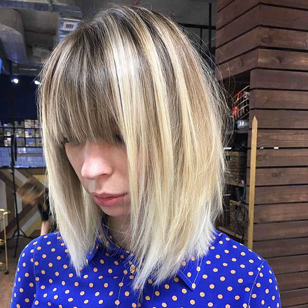 Medium Cut With Bangs