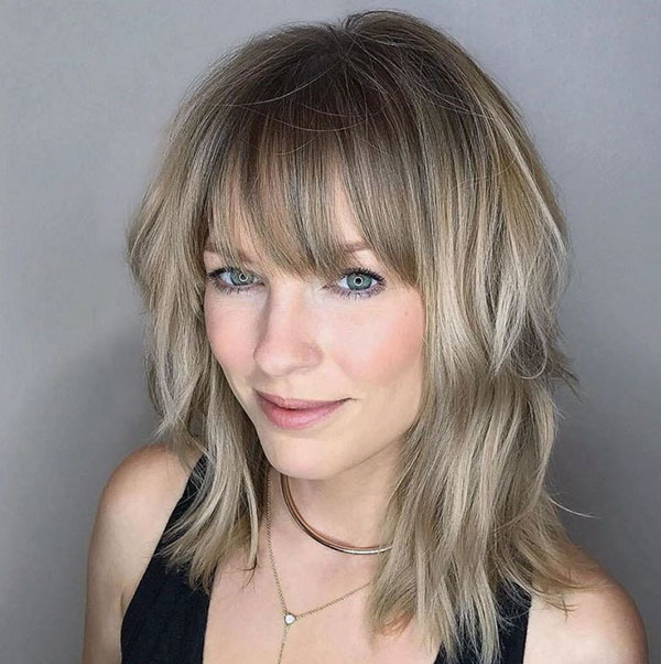 Medium Haircuts With Bangs 2020