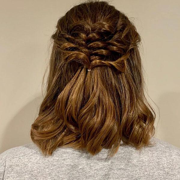 Half Up Hairstyle Ideas For Medium Hair