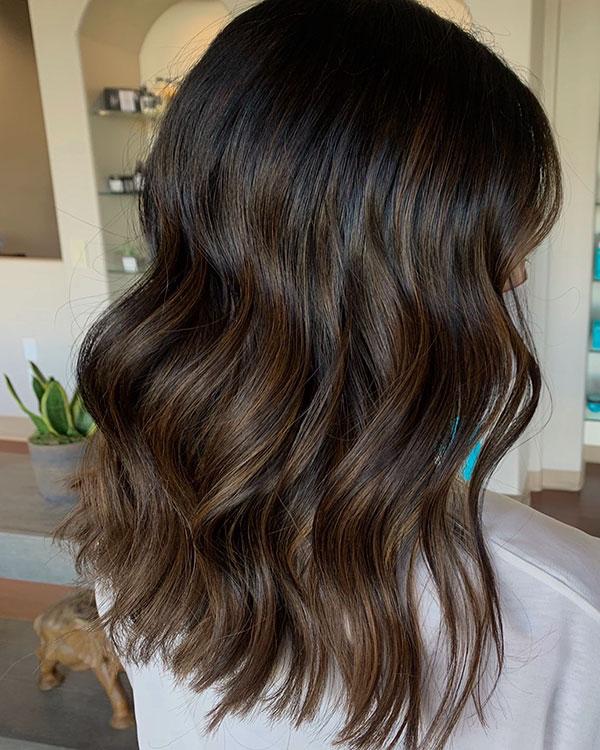 Brown Medium Hair Images
