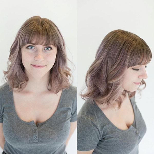 Medium Haircuts With Bangs