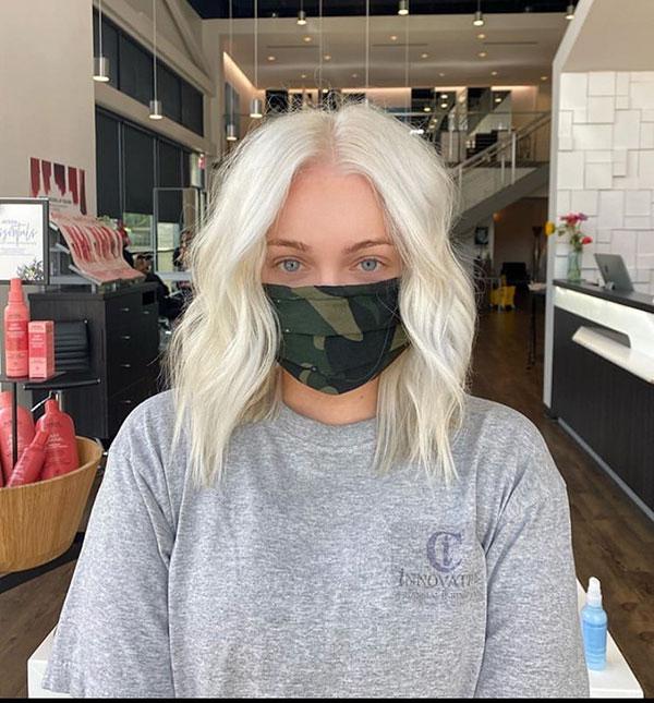 Blonde Medium Hair