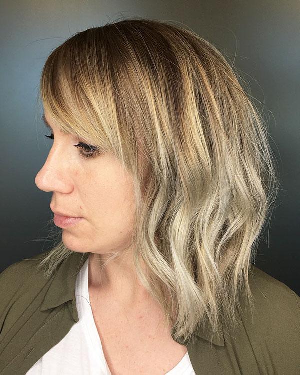 Medium Haircuts With Bangs 2020