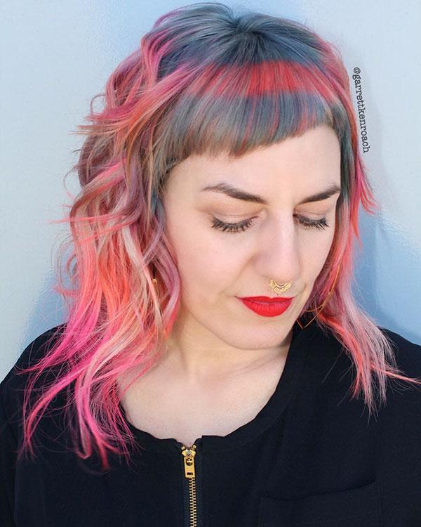 Medium Hairdos With Bangs