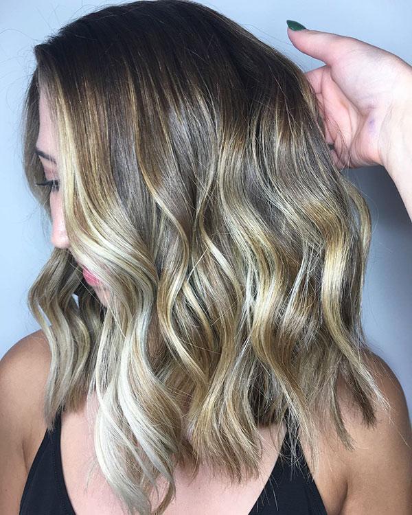 Medium Cut With Ombre Hair