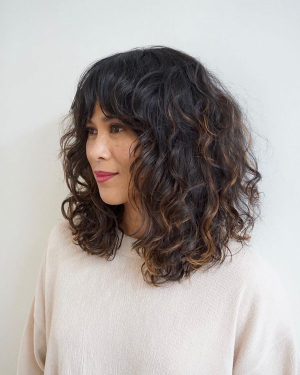 Medium Haircuts For Brunettes