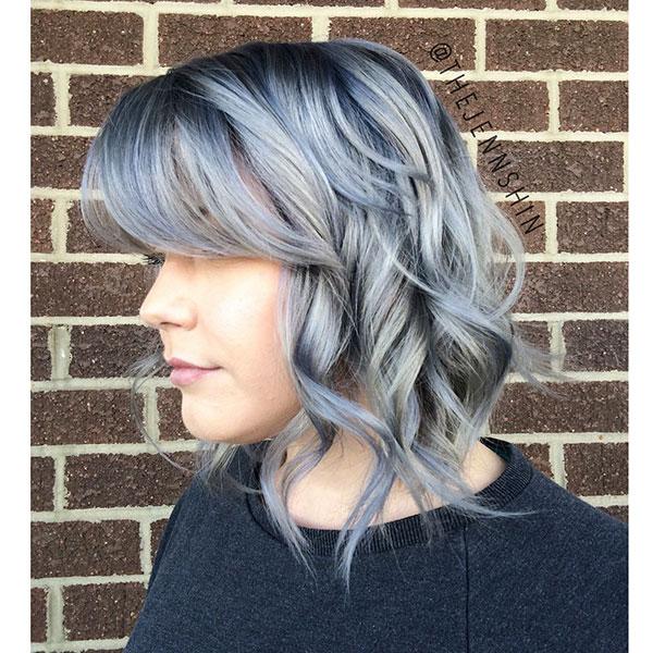 Medium Hair With Bangs