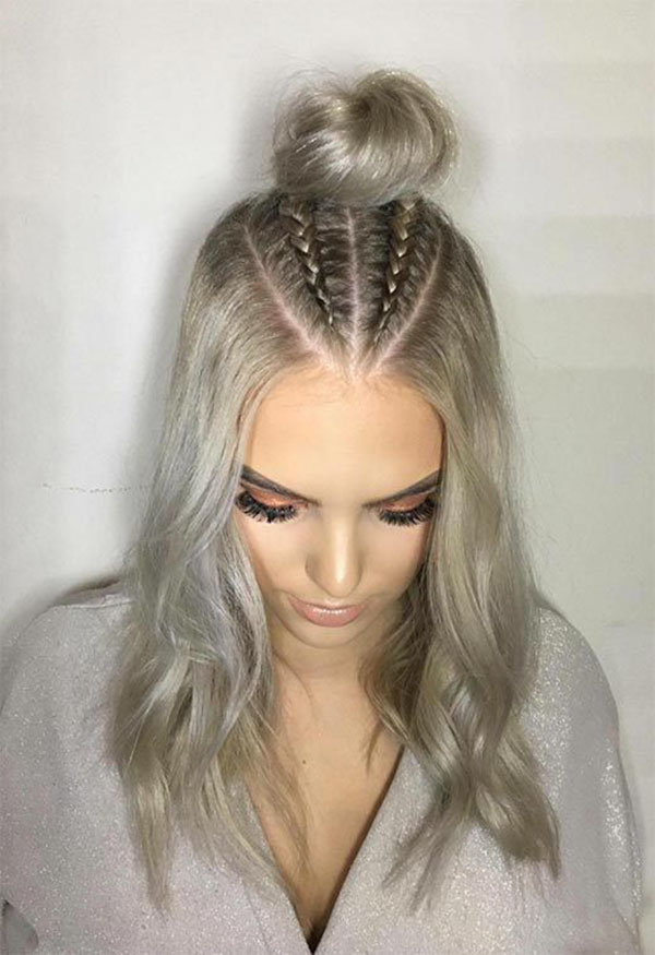 Braided Cute Hairstyles For Medium Length Hair