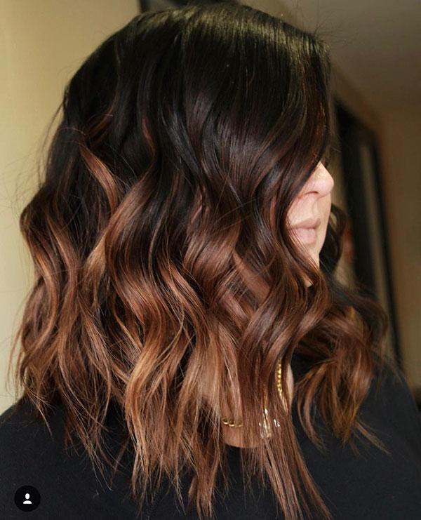 Medium Brown Ombre Hair Color
