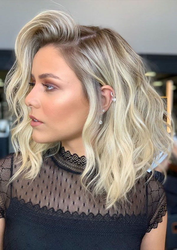 Medium Wavy Hairstyles For Thick Hair