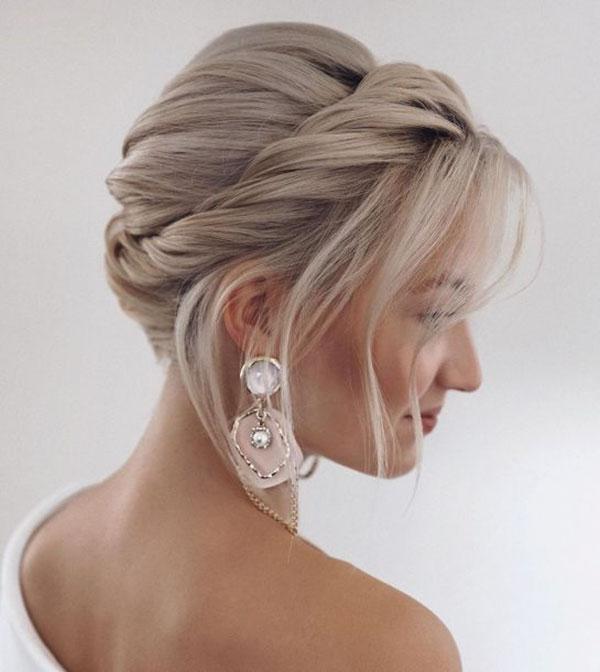 Simple Bridal Hairstyles For Medium Hair