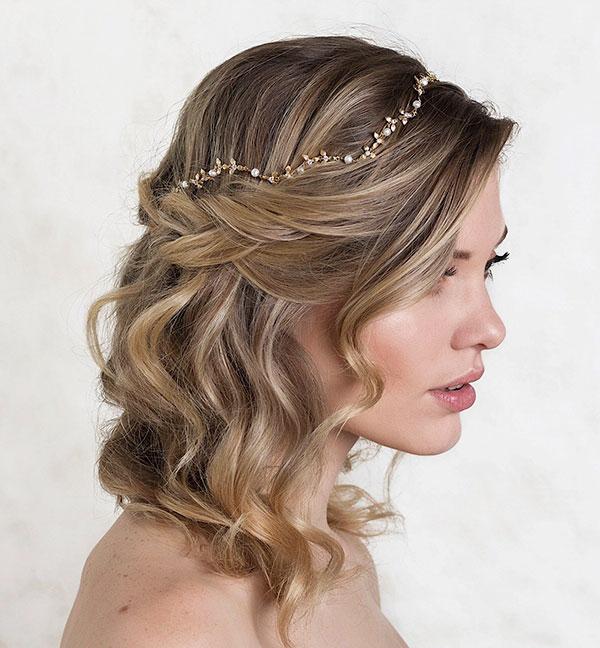 Bridal Hair For Medium Hair