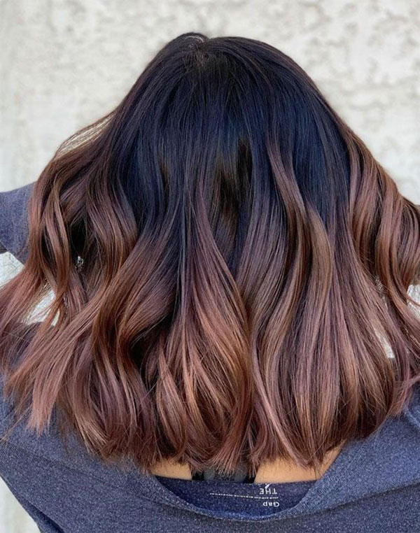 Brown Ombre Hairstyle For Medium Hair