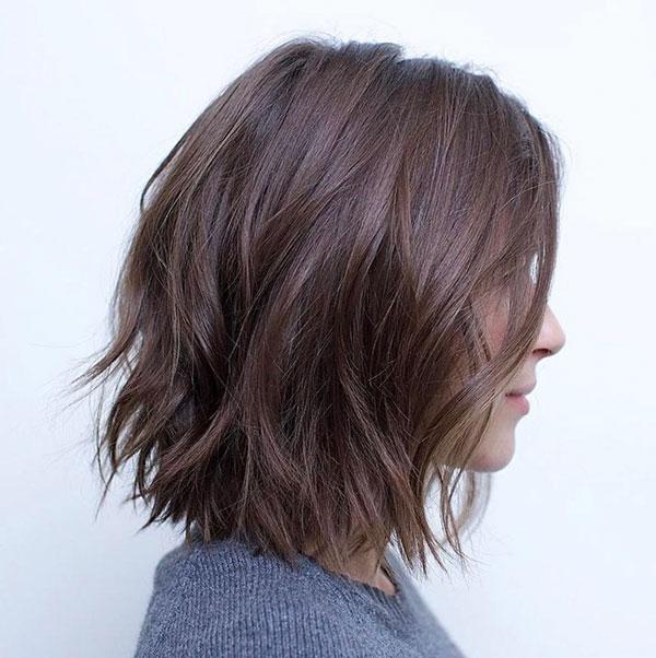 Thick Hair Medium Length Choppy Haircuts